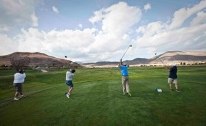 At Silver Oak, groups began teeing off in unison.