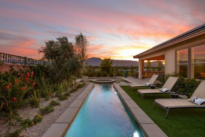 Some of the Trilogy homes feature private pools.