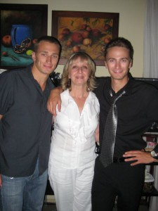 Cousin Mirela and her sons