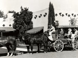 From the past until today, the Wigwam's stage coach greets guests at the resort's entrance.