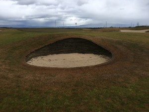 One of the two revetted bunkers on Baylands.