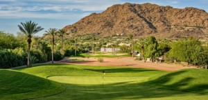 One of Forrest Richardson's greens on the newly opened Short Course near Scottsdale, Arizona.