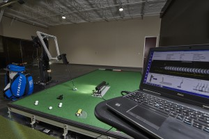 Breakthrough Golf's putting laboratory in Richardson, Texas.