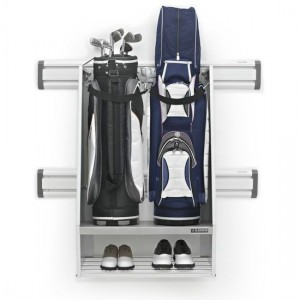 A neatly organized Gladiator® Golf Caddy.