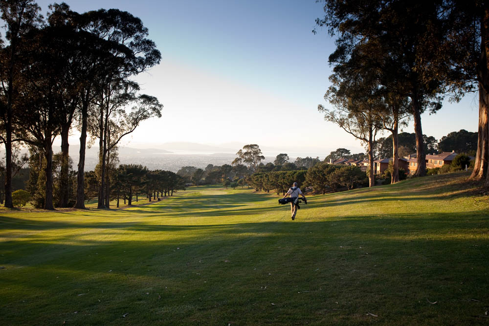 The downhill sixth hole on brings the round to the western half of the course.