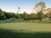 Dyker Beach Golf Course, Brooklyn, New York, with the Verrazzano Narrows Bridge in the background