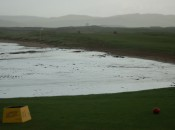 Many pundits consider Battery, the first at Scotland's Machrihanish, to be the finest opening hole in all of golf. Most visitors play the standard men's red tees.