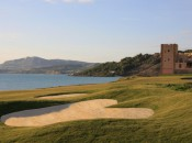 Beautiful Mediterranean coastline and ancient castles are one of the things appealing about golf in Sicily.