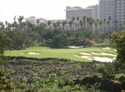 Like the orignal, the new Mission Hills Hainan resort combines deluxe accomodations and facilities with first-rate golf, much of it dramatically carved from the island's black lava.