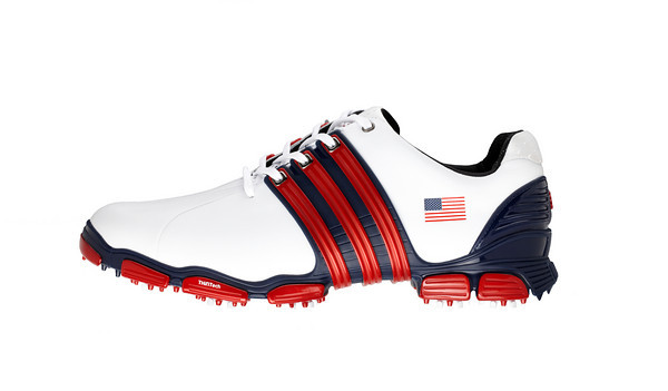 Adidas Red White And Blue Golf Shoes