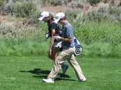 Kevin Streelman, with his wife as caddie, playing with me in the pro-am of the 2010 Reno Tahoe Open.