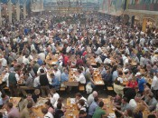 "It's hard to imagine the scale of Munich's Oktoberfest if you haven't been. There are more than a dozen ""tents"" likt this."