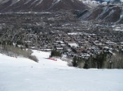 The town of Aspen, viewed from the slopes of Ajax, is one of skiing's most popular destinations.