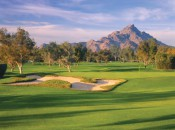 Like most of the 36 holes at the Arizona Biltmore, the 14th of the classic 1928 Adobe Course is immaculately maintained and framed by the Phoenix Mountain Preserve.