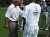 19-time winner Ben Crenshaw does not need his caddie's advice on where to eat barbecue!