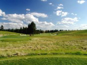 The view from the 12th tee shows the beautiful landscape of NW Idaho