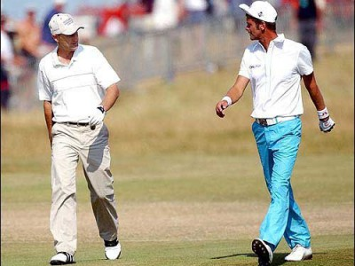 Roe and Parnevik in the 2003 Open.