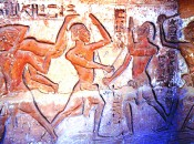 Ancient Nubian Warrior's at Beni Hassan, Egypt