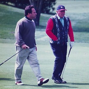 Arnold, cold and one over par