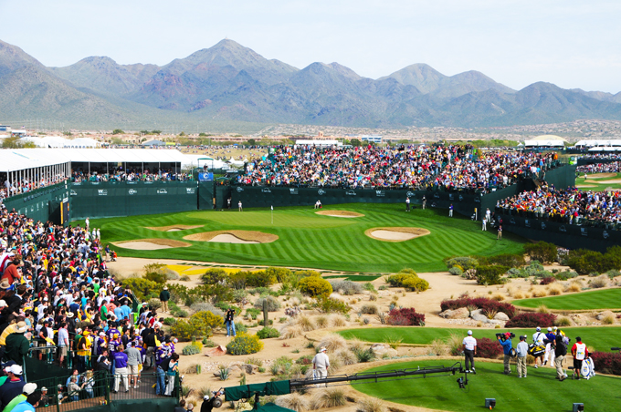 The infamous 16th at TPC Scottsdale Stadium Course © The A Position