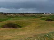 The par 4 9th hole at Western Gailes © James Mason