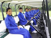 Caddies at Thai Country Club in Bangkok