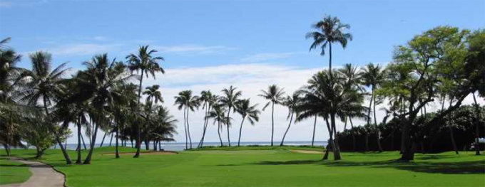 The 2nd hole at Waialae Country Club © Peter Corden
