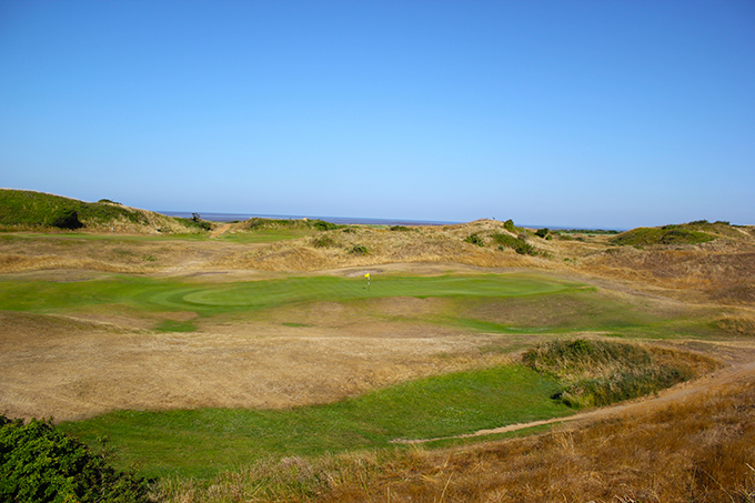 The 2nd green at the stunning Burnham & Berrow GC