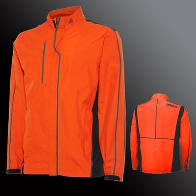 Adidas Jacket Orange front and back
