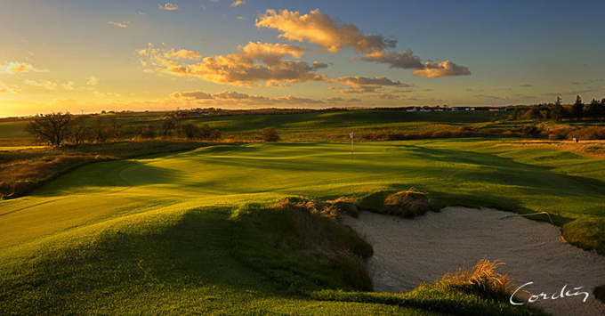 Himmerland Golf & Spa, Backtee course 18th hole & Peter Corden