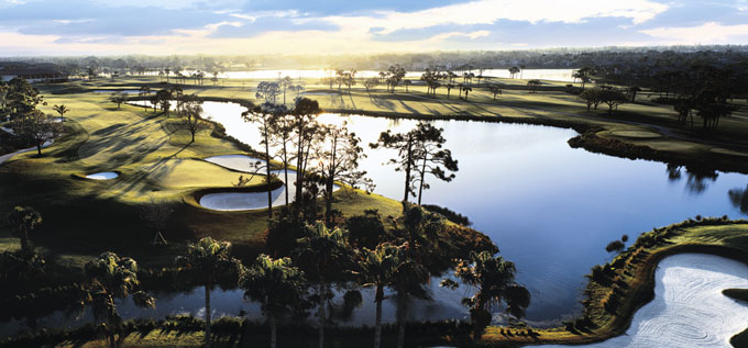 Ariel view of part of the PGA National Champions Course © PGA National Resort & Spa