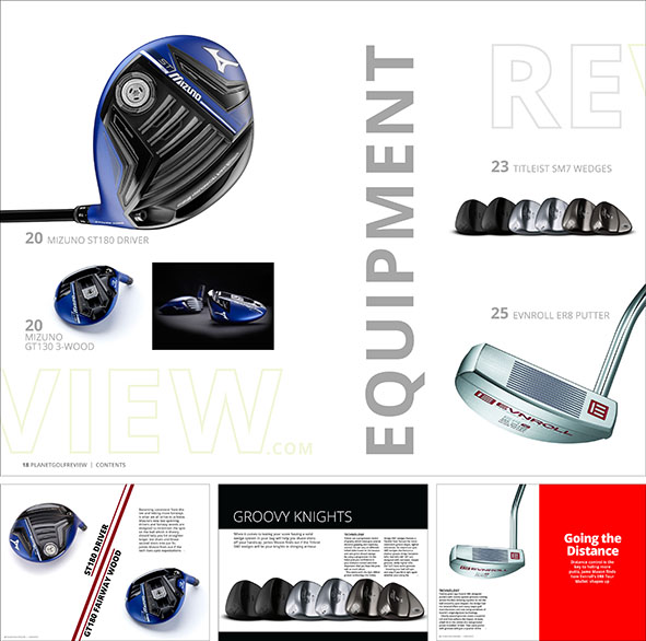 Equipment reviews of Mizuno, Titleist and Evnroll