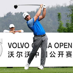 Jordan Smith during the final round of the Volvo China Open on 29 April 2018 at Topwin Golf and Country Club, Beijing, China. Mandatory credit: Richard Castka/Sportpixgolf.com