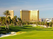"The par 4, 8th hole, known as ""Hai Way,"" heads right to Mandalay Bay © Robert Kaufman"