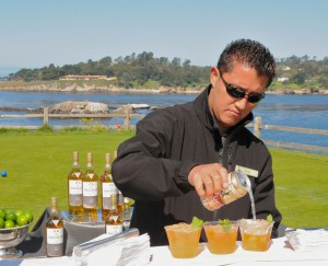Open bar adjacent Pebble Beach's 7th hole during the Celebrity Chef Golf Tournament ©Robert Kaufman