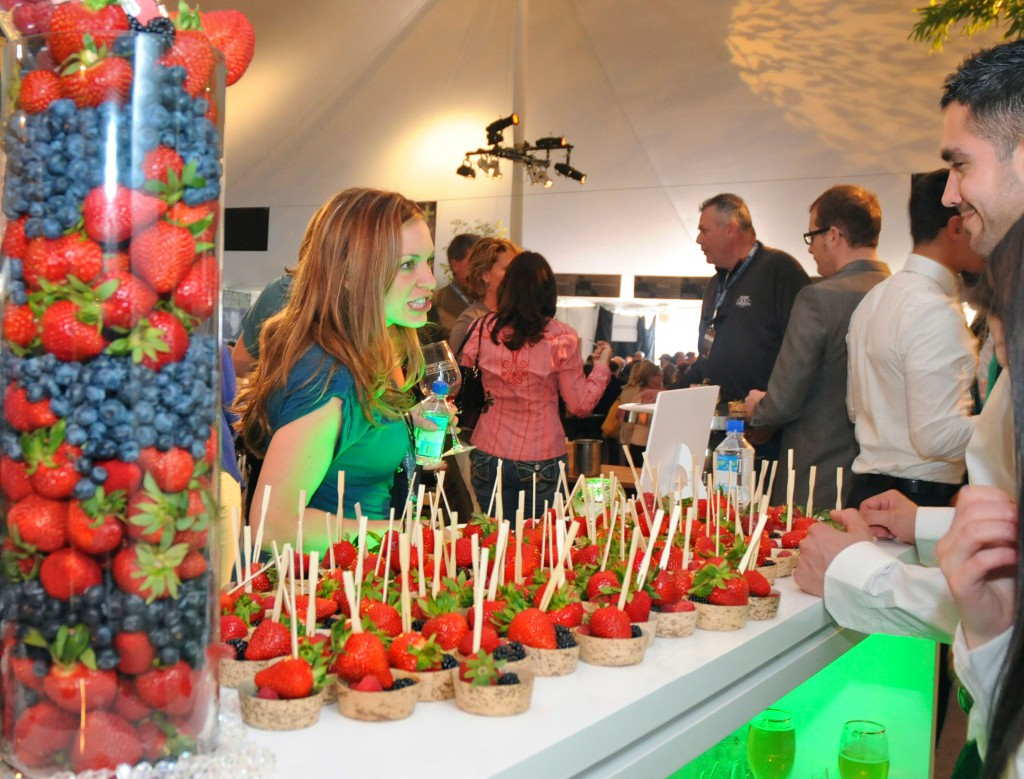 Fresh fruit stand at the Grand Tasting at the Pebble Beach Food & Wine  ©Robert Kaufman