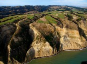 Huge Cliffs Dwarf Magestic Cape Kidnappers