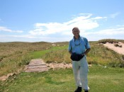 "Author Bob Fagan at his ""Adopted Home Club"" of Ballyneal where conditions are firm, fast, and fun with a bit of brown!"