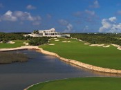 The 18th at the Temenos Golf Course, Anguilla.