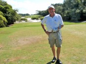 Author Bob Fagan on the par-3 12th at Kiva Dunes.
