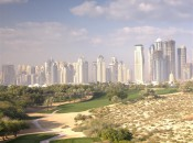 The par-4 8th hole on the Majilis Course at the Emirates Golf Club in Dubai.