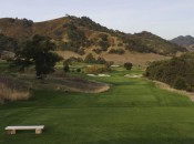 The teeshot from the 17th at CordeValle.