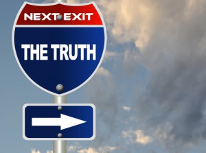 The truth road sign