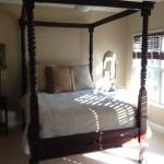 Four-poster bed in Old Waverly golf villa -- all are uniquely furnished!