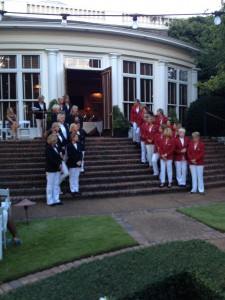 LPGA Legends are introduced in Handa Cup opening ceremonies at Old Waverly.