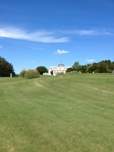 Approaching the clubhouse on the No. 9 fairway at Old Waverly.