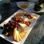 Cheese plate and Castroville artichoke at Pebble Beach Terrace