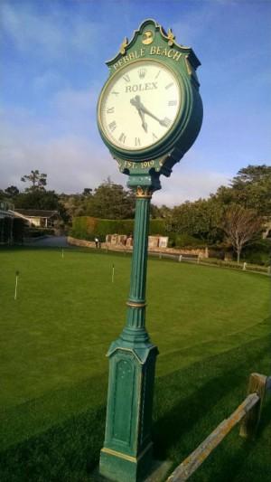 Clock at Pebble Beach