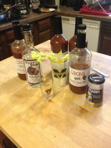 Mississippi meets Michigan -- Ubons and Ugly Dog vodka for a great Bloody Mary