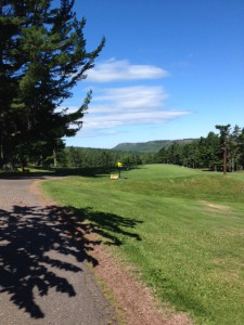 First tee at Keweenaw Moutain Lodge Golf Course